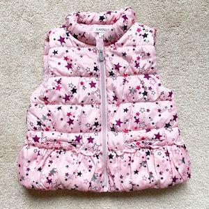 🎆Flapdoodles | Pink star down puffer vest